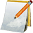 icon: notepad and pen